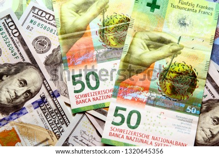 Swiss franc banknote / The franc is the currency and legal tender of Switzerland and Liechtenstein #1320645356
