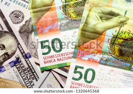Swiss franc banknote / The franc is the currency and legal tender of Switzerland and Liechtenstein #1320645368