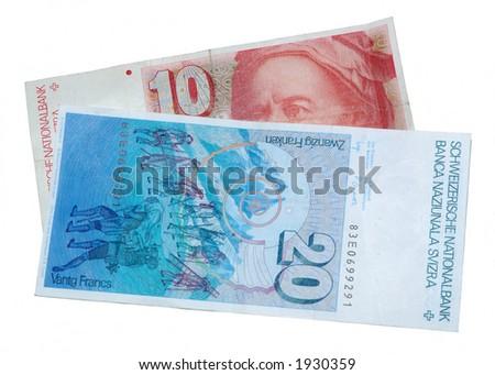 Swiss francs - stock photo