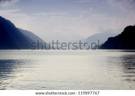 swiss lake in Brienz, Switzerland