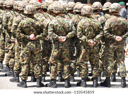 Swiss military men