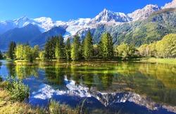 Swiss mountain and lake scenery