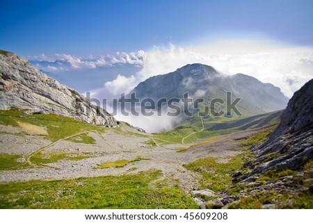 Swiss mountain Pilatus in Switzerland stunning view #45609208