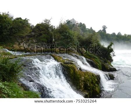 swiss rhine falls near schaffhausen #753325264