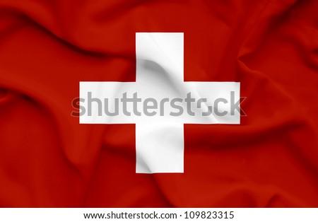 Swiss waving flag