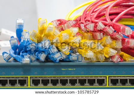 Switch and Ethernet cables