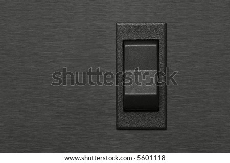 switch button on chromed background