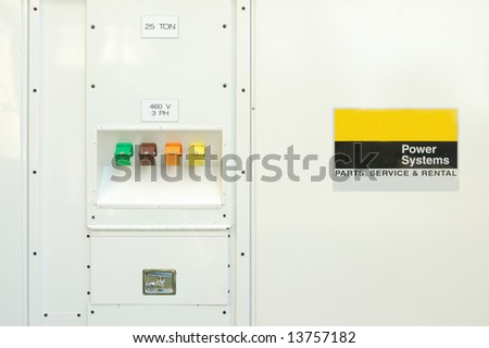 Switches of portable power generator; Redlands, California #13757182
