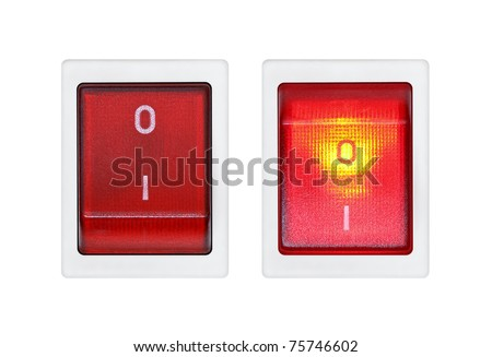 Switches on a white background. ON and OFF