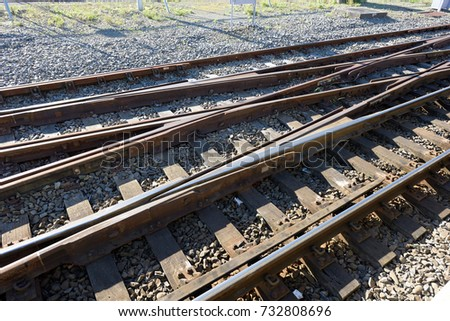 Switching arrangement on railway tracks #732808696