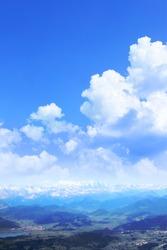 Switzerland - Aerial image of Swiss Alps