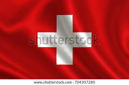 Switzerland flag. A series of