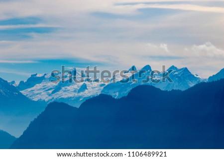 Switzerland Lake Lucerne landscape view #1106489921