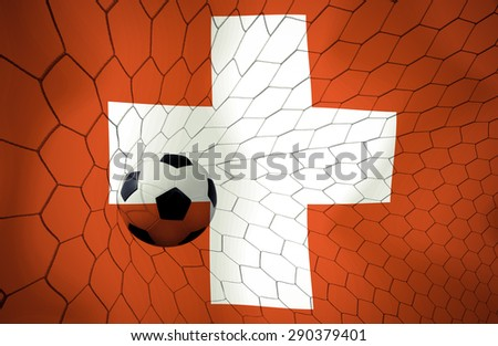 Switzerland soccer ball vintage color #290379401