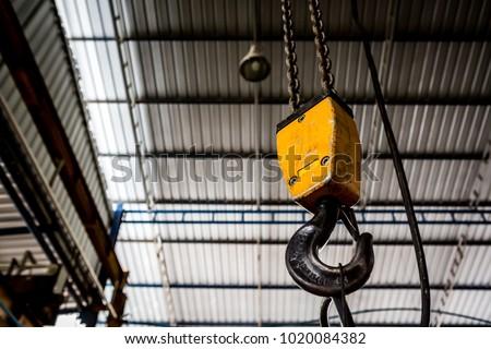 Swivel chain hook of electric hoist in workshop / chain block / pullers