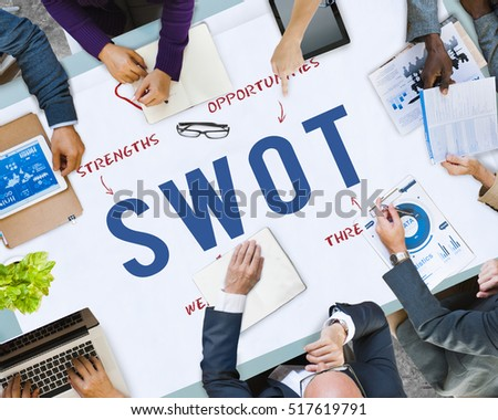 SWOT Business Company Strategy Marketing Concept