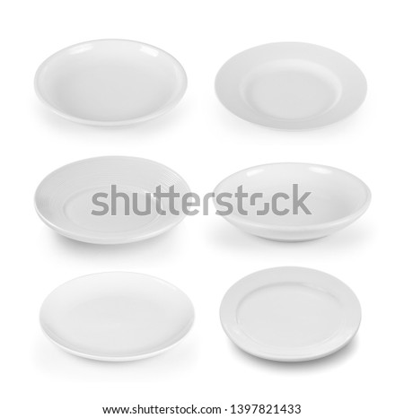 swt of white plate on white background