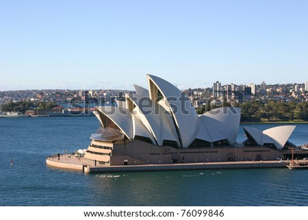 SYDNEY - APRIL 19: The Sydney Opera House provides a venue for the performing arts on April 19, 2006 in Australia's largest city, Sydney.