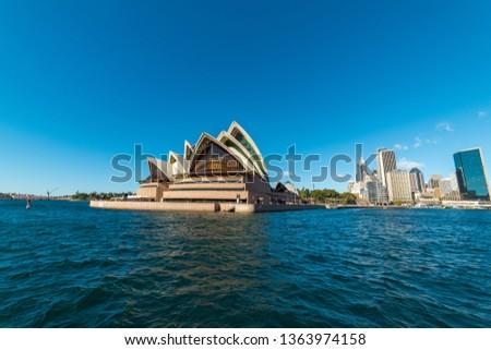 Sydney, Australia - July, 23, 2016: Circular Quay with Sydney Opera House and Sydney CBD on sunny day #1363974158