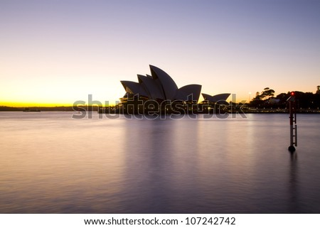 SYDNEY, AUSTRALIA - MARCH 22:View of Sydney's most famous icon, the Sydney Opera House on March 22,2012 in Sydney, Australia. The Opera House will celebrate its 40th anniversary in 2013.