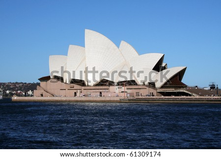 SYDNEY, AUSTRALIA - NOVEMBER 18: Side view of Sydney's most famous icon, the Sydney Opera House on November 18, 2005 in Sydney, Australia