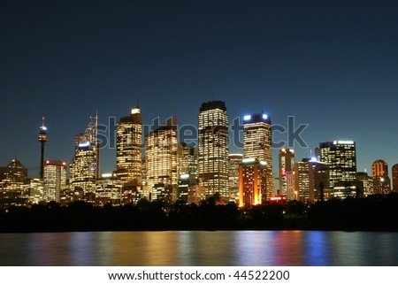 Sydney City at night.