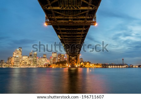 sydney city CBD and harbour view from Milsons Point and Harbour