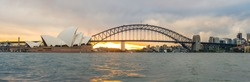 Sydney cityscape with panorama view, New south wales, Australia.