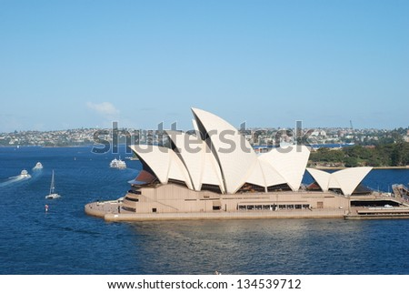 SYDNEY - FEBRUARY 19: Sydney Opera House on February 19, 2013 in Sydney. The Sydney Opera House is a world-class performing arts centre, which was included in the UNESCO's World Heritage List in 2007