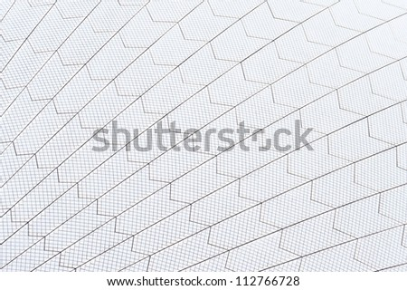 SYDNEY - FEBRUARY 8: The Iconic Sails of the Sydney Opera House are made up of over one million white, self cleaning tiles. February 8, 2012 in Sydney, Australia.