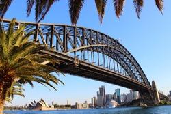 Sydney Harbor at sunset - Opera house Sydney - Harbor Bridge Sydney