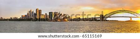 Sydney harbor large panorama