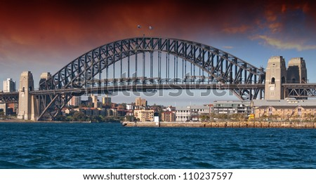 Sydney Harbour Bridge and Australian Sky, New South Wales