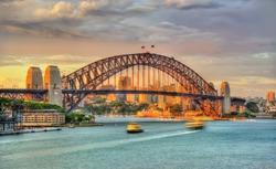 Sydney Harbour Bridge at sunset - Australia, New South Wales