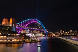 Sydney Harbour Bridge at Vivid