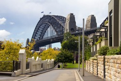 Sydney Harbour Bridge from street