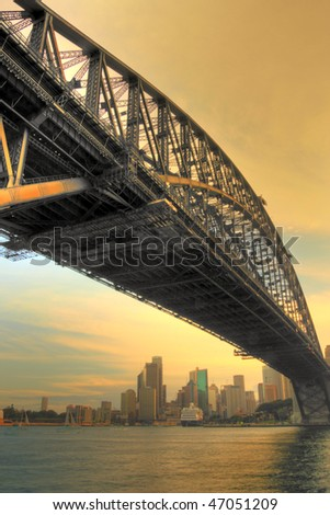 Sydney Harbour Bridge in Sunset