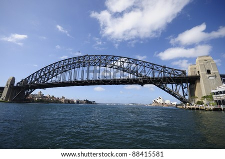 Sydney Harbour Bridge on Sunny day, New south wales, Sydney, Australia