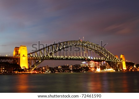 Sydney Harbour bridge taken from opera house