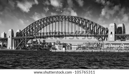 Sydney Harbour Bridge with Dramatic Sky, Australia