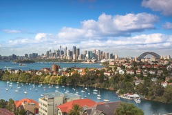 Sydney harbour panorama taken from a unique location in Mosman not available to everyone