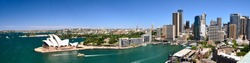 Sydney Harbour Panorama - View from the south-eastern pylon containing the tourist lookout towards the CBD and the Opera House