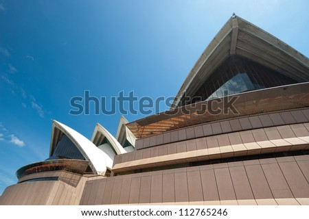 SYDNEY - JANUARY 8: The Iconic Sydney Opera House, became a UNESCO World Heritage Site on 28 June 2007 sits on the edge of Circular Quay. January 8, 2012 in Sydney, Australia.