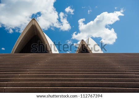 SYDNEY - JANUARY 11: The Iconic Sydney Opera House, became a UNESCO World Heritage Site on 28 June 2007 sits on the edge of Circular Quay.  January 11, 2012 in Sydney, Australia.