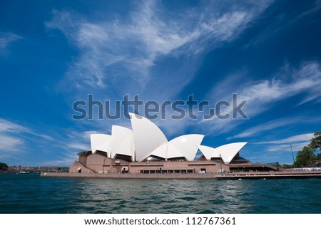 SYDNEY - JANUARY 12: The Iconic Sydney Opera House is a multi-venue performing arts centre also containing bars and outdoor restaurants.  January 12, 2012 in Sydney, Australia.