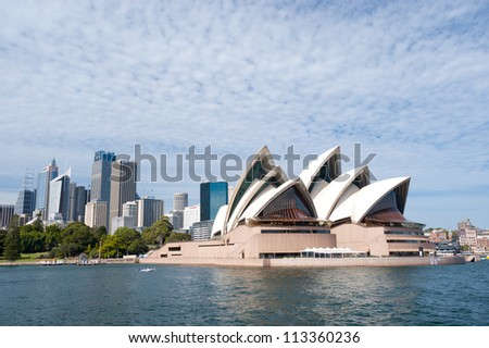 SYDNEY - JANUARY 10: The Iconic Sydney Opera House is a multi-venue performing arts centre also containing bars and outdoor restaurants. January 10, 2012 in Sydney, Australia.
