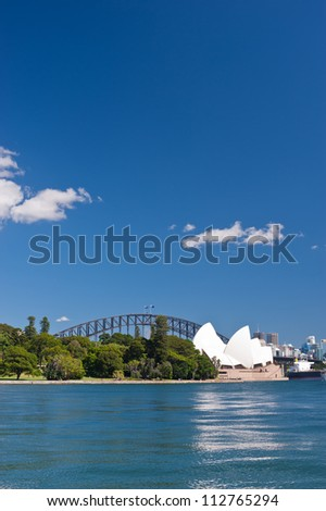 SYDNEY - JANUARY 11: The Iconic Sydney Opera House is a multi-venue performing arts centre sits at the edge of the Royal Botanical Gardens.  January 11, 2012 in Sydney, Australia.
