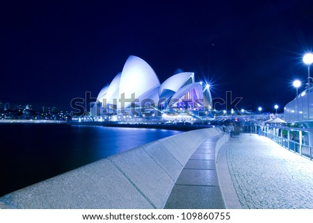 SYDNEY, MARCH 26: Close up view of Sydney Opera House on March 26,2012 in Sydney, Australia. The Opera House is Unesco World Heritage Site and one of the world's famous landmarks.