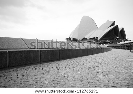 SYDNEY - MARCH 1: The Iconic Sydney Opera House, became a UNESCO World Heritage Site on 28 June 2007 sits on the edge of Circular Quay. March 1, 2012 in Sydney, Australia.