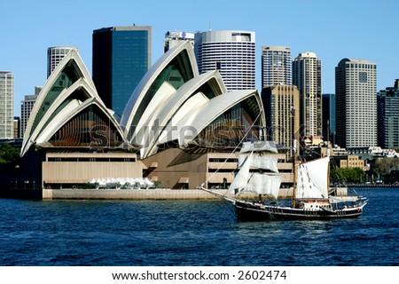 Sydney Opera House and Tall Ship, Sydney, Australia